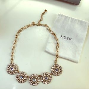 JCREW Layered Circle Statement Necklace